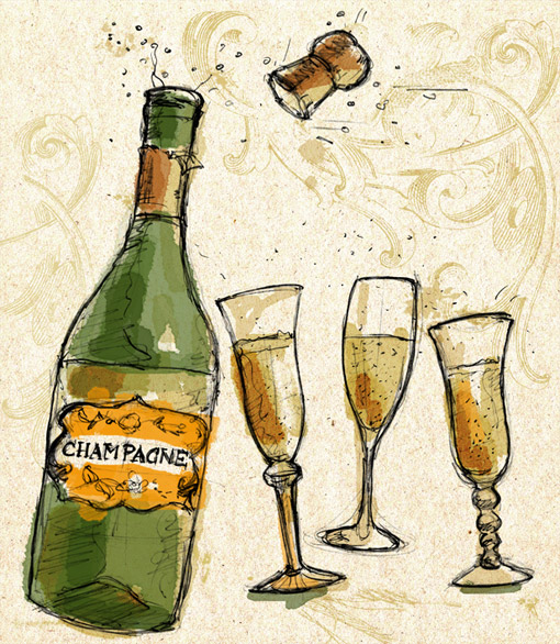 Champagne-illustration-Fuzzhead