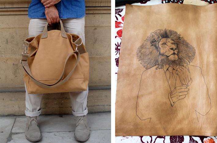 lion-tattoo-leather